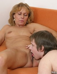 Christina seduced her son's friend and fucked him.